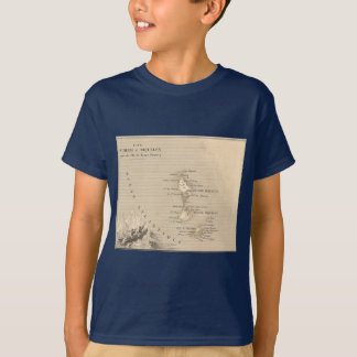 1858 Map of Iles St Pierre et Miquelon, France T-Shirt