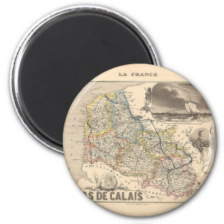 1858 Map of Pas de Calais Department, France Magnet