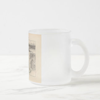 1858 Map of Vaucluse Department France Coffee Mugs