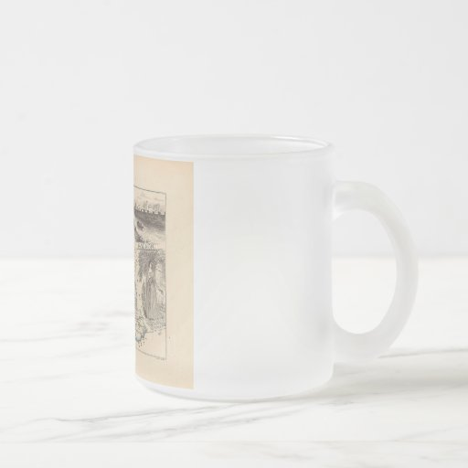 1858 Map of Vaucluse Department, France Coffee Mugs