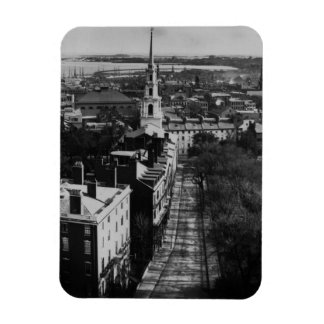 1859:  A view of Boston from the State House Rectangular Photo Magnet