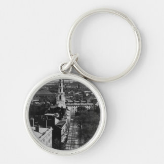 1859:  A view of Boston from the State House Silver-Colored Round Key Ring