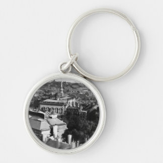 1859:  A view of Boston looking south Silver-Colored Round Key Ring
