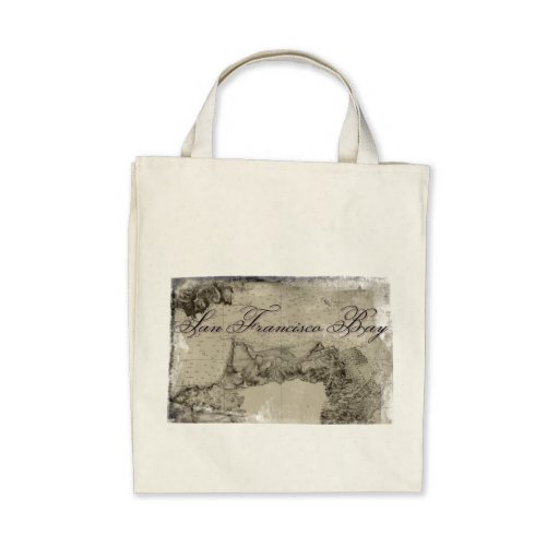 1859 San Francisco Bay Map Bag