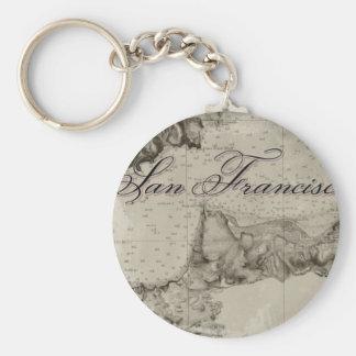 1859 San Francisco Bay Map Key Chains