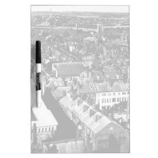 1859:  The city of Boston, Massachusetts Dry Erase Board