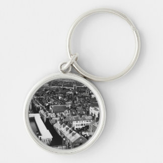 1859:  The city of Boston, Massachusetts Silver-Colored Round Key Ring