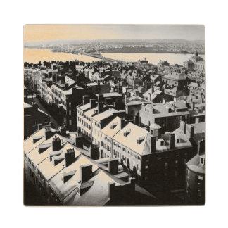 1859: The city of Boston, Massachusetts Wood Coaster