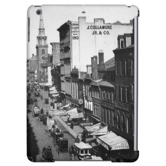 1859:  Traffic and shops on Washington Street