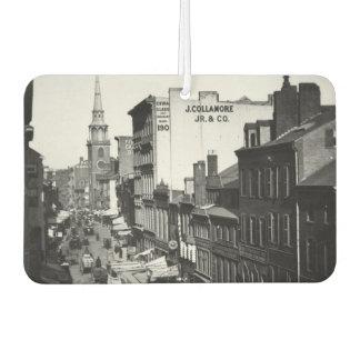 1859:  Traffic and shops on Washington Street Car Air Freshener