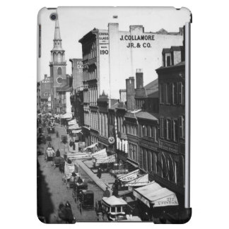1859:  Traffic and shops on Washington Street Case For iPad Air