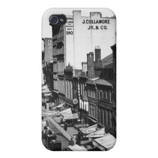 1859:  Traffic and shops on Washington Street Case For The iPhone 4