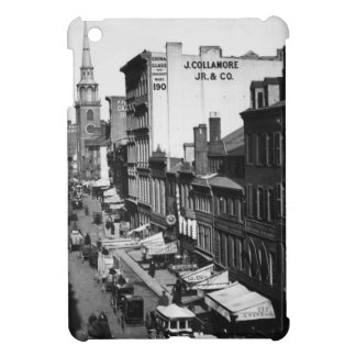 1859:  Traffic and shops on Washington Street iPad Mini Case