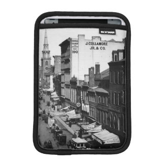 1859:  Traffic and shops on Washington Street iPad Mini Sleeve