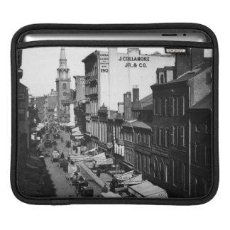 1859:  Traffic and shops on Washington Street iPad Sleeve