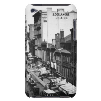 1859:  Traffic and shops on Washington Street iPod Touch Case