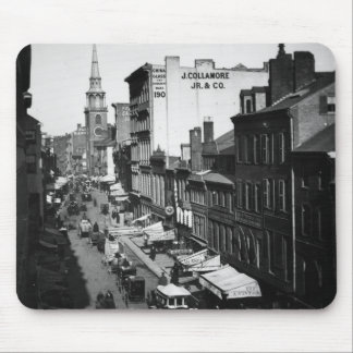 1859:  Traffic and shops on Washington Street Mouse Pad