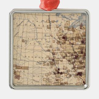 185 Value products/sq mile Silver-Colored Square Decoration