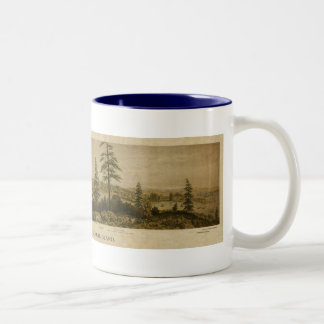 1860 View of Victoria, Vancouver Two-Tone Coffee Mug
