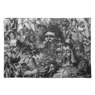 1861: 'What I Saw in the Fire'. Fairies Placemat