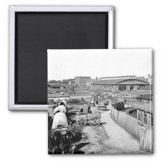 1864 Railroad Depot Atlanta Magnet