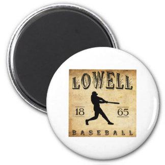 1865 Lowell Massachusetts Baseball 6 Cm Round Magnet