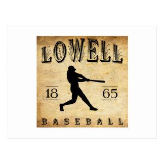 1865 Lowell Massachusetts Baseball Postcards