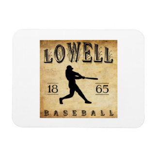 1865 Lowell Massachusetts Baseball Vinyl Magnet