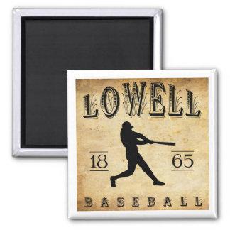 1865 Lowell Massachusetts Baseball Square Magnet