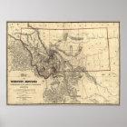 1865 map of Montana Territory Poster