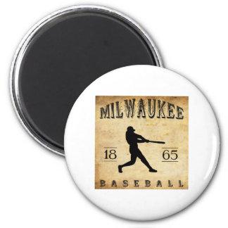 1865 Milwaukee Wisconsin Baseball Fridge Magnet