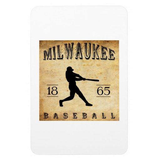 1865 Milwaukee Wisconsin Baseball Rectangle Magnets