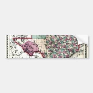 1866 Antiquarian Map of Texas by Schönberg & Co. Bumper Sticker