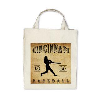 1866 Cincinnati Ohio Baseball Tote Bags