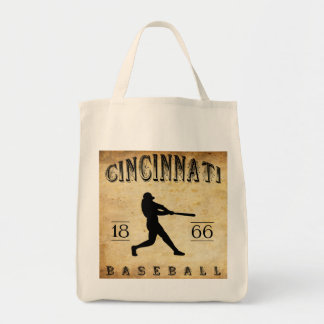 1866 Cincinnati Ohio Baseball Grocery Tote Bag