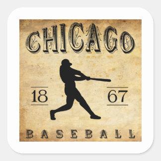 1867 Chicago Illinois Baseball Square Sticker