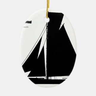 1867 solent cutter - tony fernandes christmas ornament