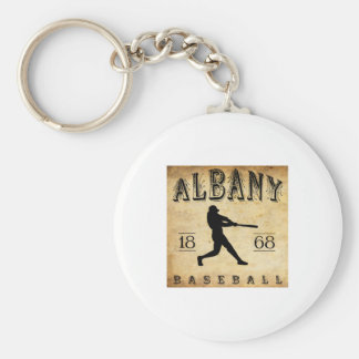 1868 Albany New York Baseball Basic Round Button Key Ring