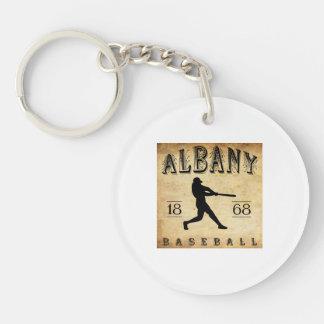 1868 Albany New York Baseball Double-Sided Round Acrylic Key Ring