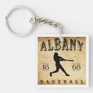 1868 Albany New York Baseball Double-Sided Square Acrylic Key Ring