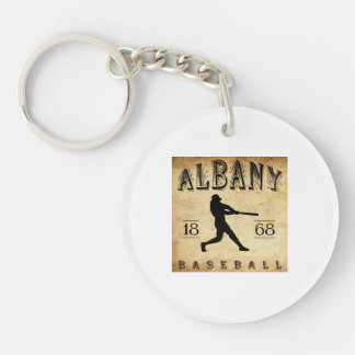 1868 Albany New York Baseball Single-Sided Round Acrylic Key Ring