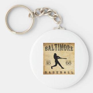 1868 Baltimore Maryland Baseball Basic Round Button Key Ring