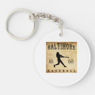 1868 Baltimore Maryland Baseball Double-Sided Round Acrylic Key Ring