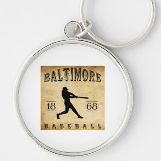 1868 Baltimore Maryland Baseball Silver-Colored Round Key Ring