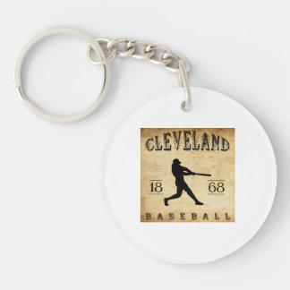 1868 Cleveland Ohio Baseball Double-Sided Round Acrylic Key Ring