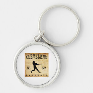 1868 Cleveland Ohio Baseball Silver-Colored Round Key Ring