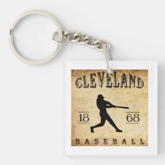 1868 Cleveland Ohio Baseball Single-Sided Square Acrylic Key Ring