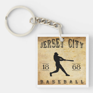 1868 Jersey City New Jersey Baseball Double-Sided Square Acrylic Key Ring