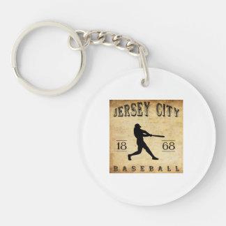 1868 Jersey City New Jersey Baseball Single-Sided Round Acrylic Key Ring