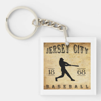 1868 Jersey City New Jersey Baseball Single-Sided Square Acrylic Key Ring